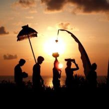 Bali Ceremony at Sunset