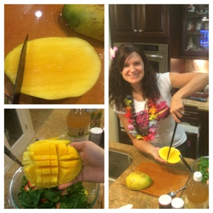 Pic 16- dicing mango for salad