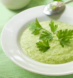 Vegetable green soup