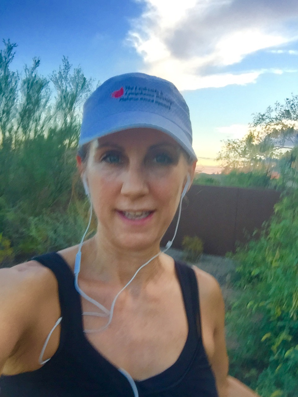 I ran 4 miles in the evening, right as the sun was setting.